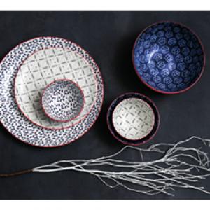 Pjata porcelani te dekoreve,te madhesive dhe formave te ndryshme